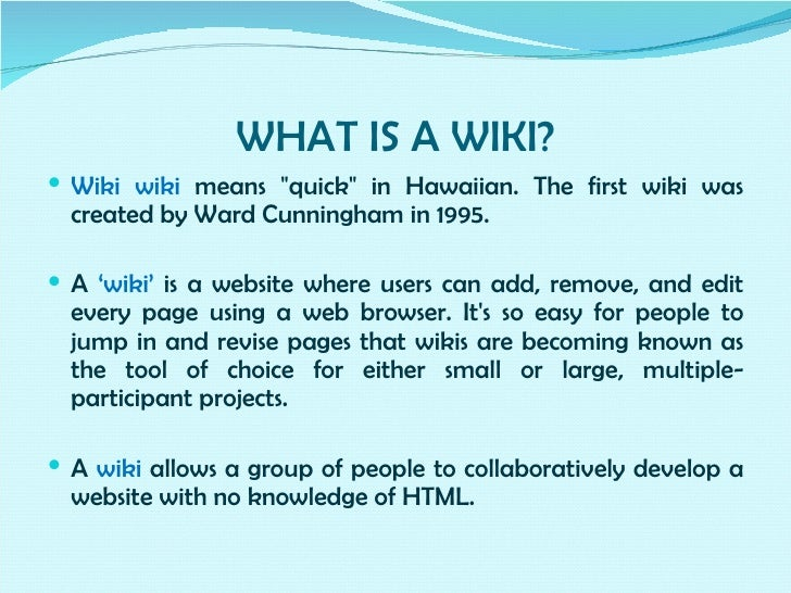 Collaborative Teaching Wiki ~ Collaborative learning the wiki way