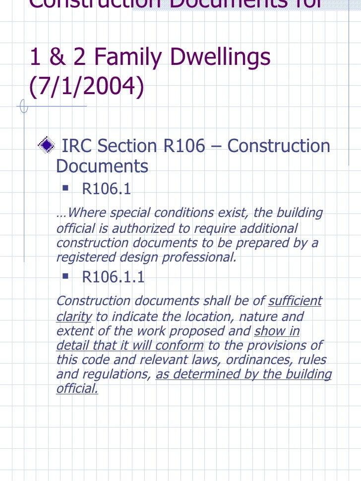 Construction Documents Required By The Connecticut