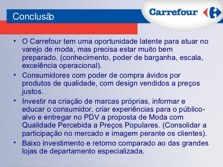 carrefour swot Global business environment - case study: carrefour global business environment - case study:  ii carrefour swot 7.