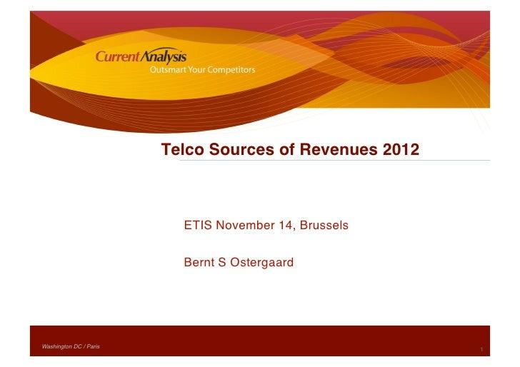 Telco Sources of Revenues 2012                                 ETIS November 14, Brussels                              Ber...