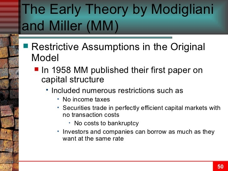 capital structure and leverage ch 13 View chapter 13 from fmt corporate at hanoi university chapter 13: capital structure and leverage o a firm's business risk is largely determined by the financial.