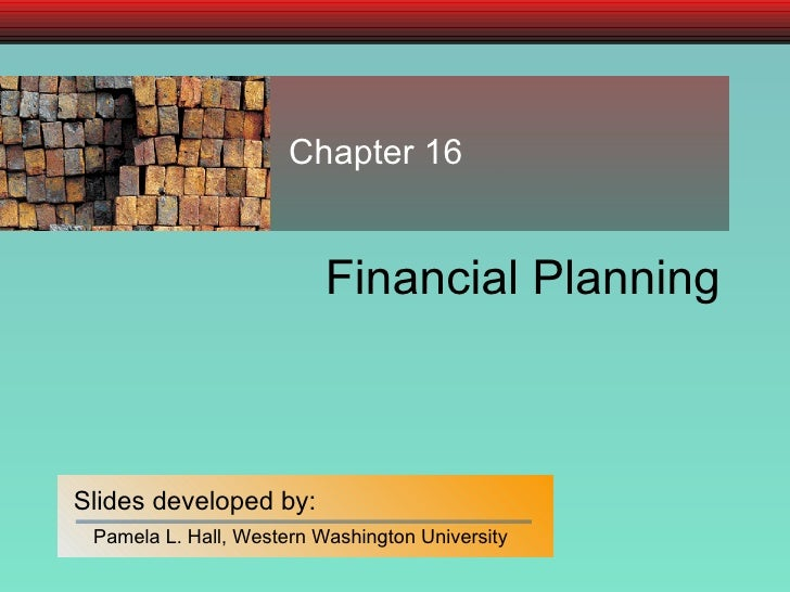 Financial Planning Chapter 16