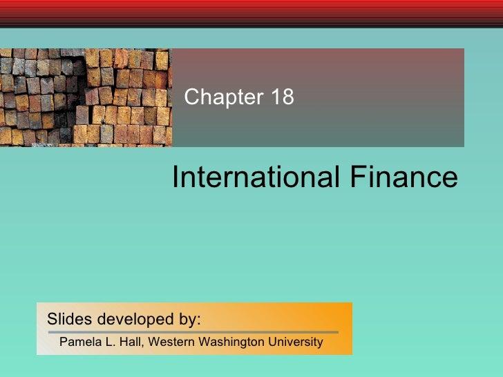 International Finance Chapter 18