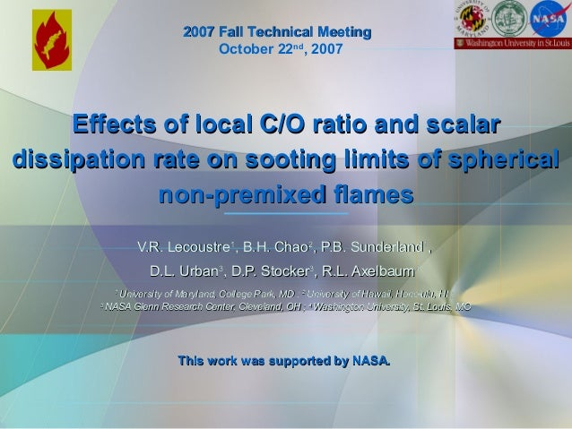 Effects of local C/O ratio and scalarEffects of local C/O ratio and scalar dissipation rate on sooting limits of spherical...