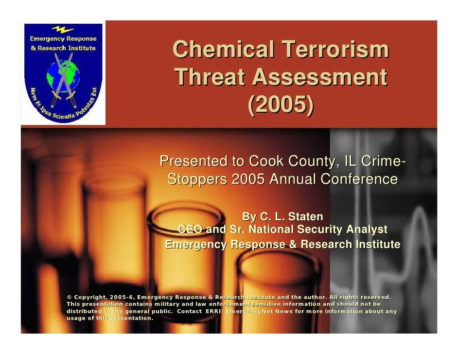 Chemical Terrorism                               Threat Assessment                                     (2005)             ...