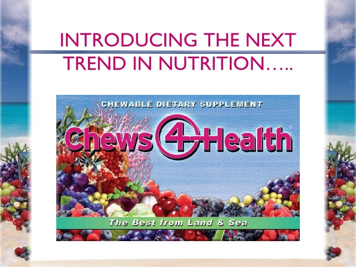 INTRODUCING THE NEXT TREND IN NUTRITION…..