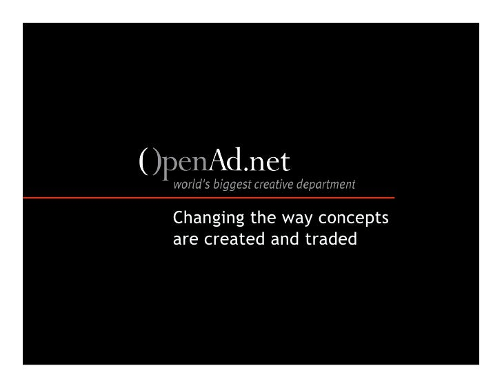 Changing the way concepts are created and traded
