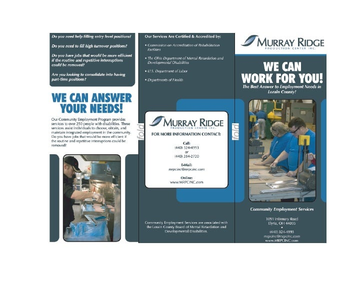 Community Employment Brochure