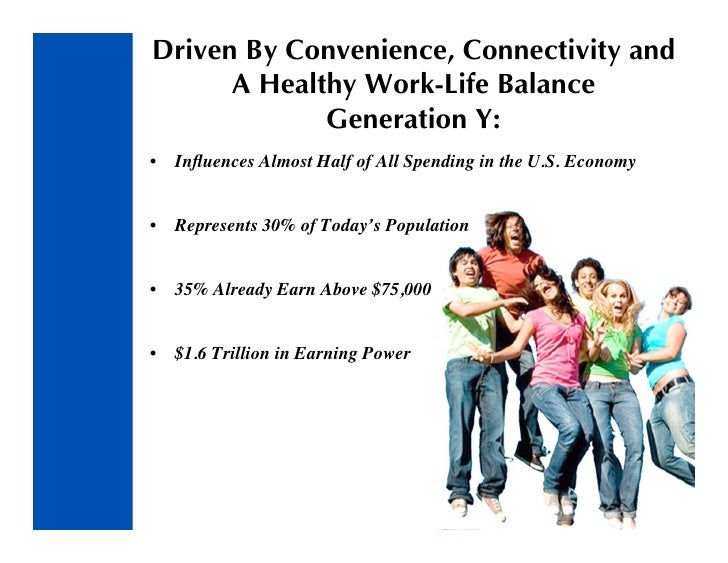 Driven By Convenience, Connectivity and       A Healthy Work-Life Balance              Generation Y: •   Influences Almost ...