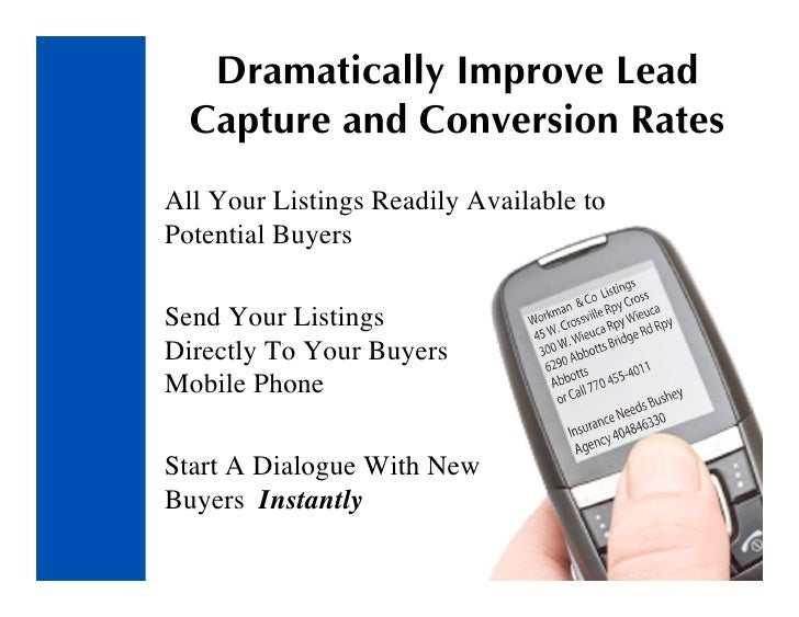Dramatically Improve Lead   Capture and Conversion Rates All Your Listings Readily Available to Potential Buyers  Send You...
