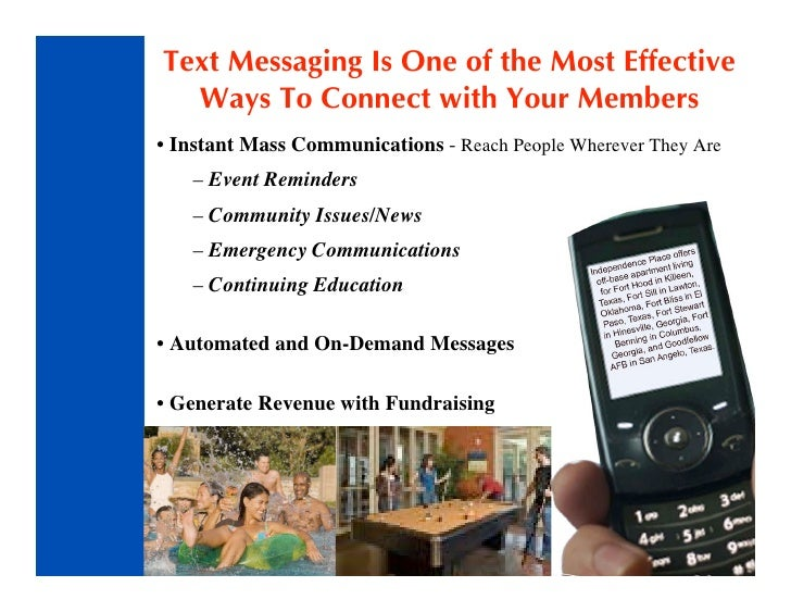 Text Messaging Is One of the Most Effective   Ways To Connect with Your Members • Instant Mass Communications - Reach Peop...