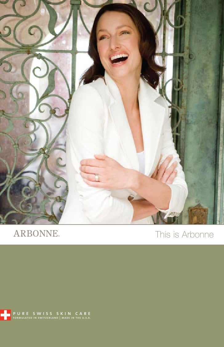 This is Arbonne     pure swiss skin care formulated in switzerland | made in the u.s.a.