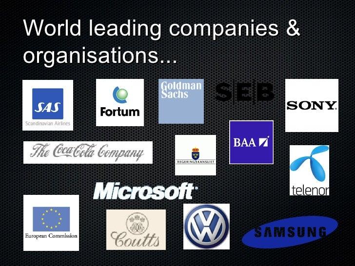 World leading companies & organisations...