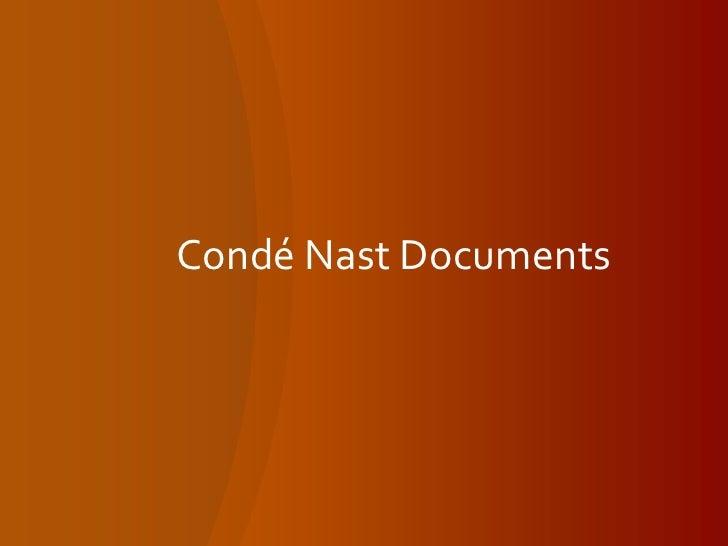 Condé Nast Documents