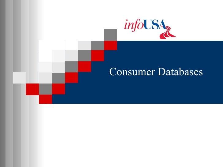 Consumer Databases