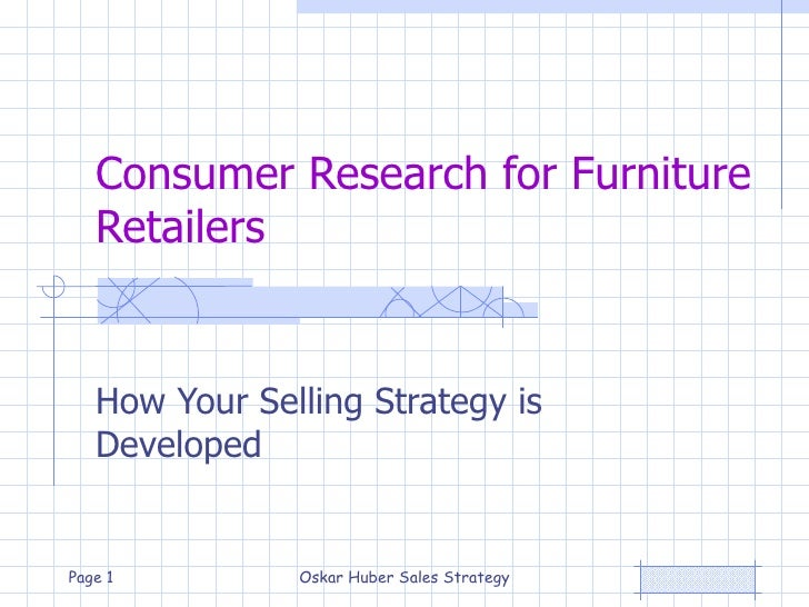 Consumer Research for Furniture Retailers How Your Selling Strategy is Developed