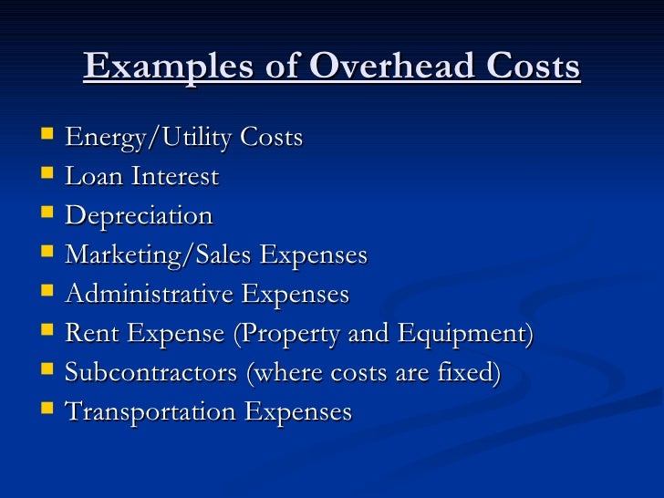 Controlling Overhead Costs