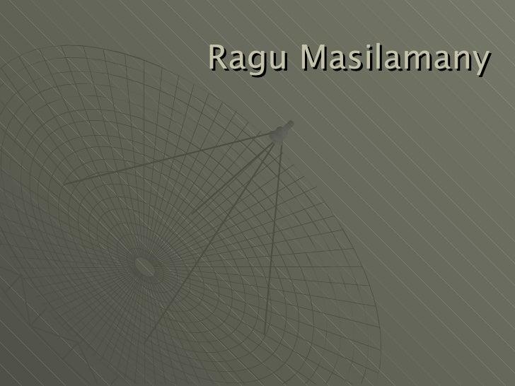 Ragu Masilamany