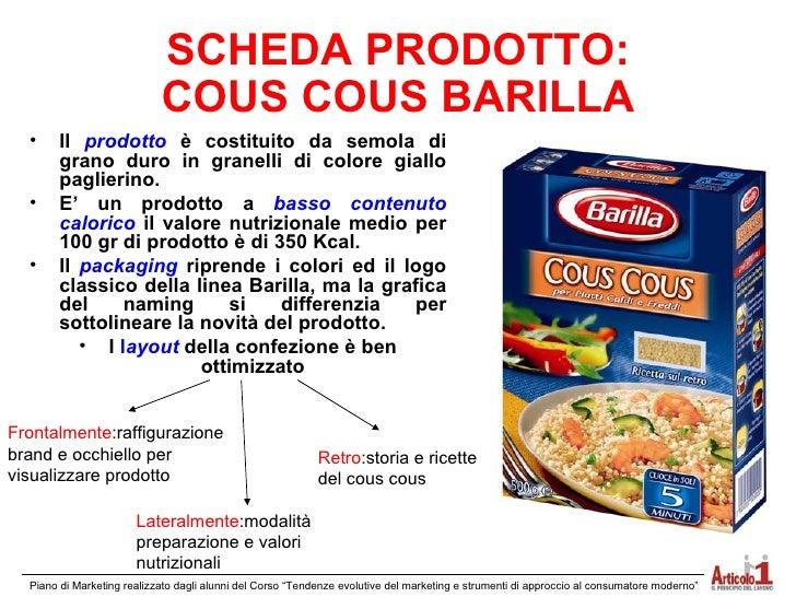 Cous cous barilla for Da dove proviene il grano della barilla