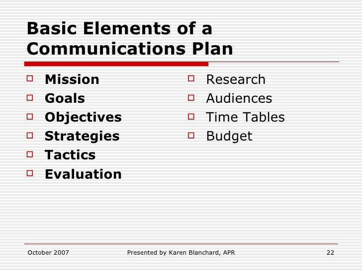 Creating A Communications Plan