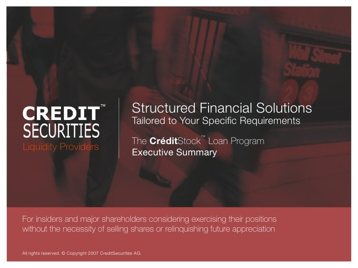 Structured Financial Solutions                                                      Tailored to Your Specific Requirements ...