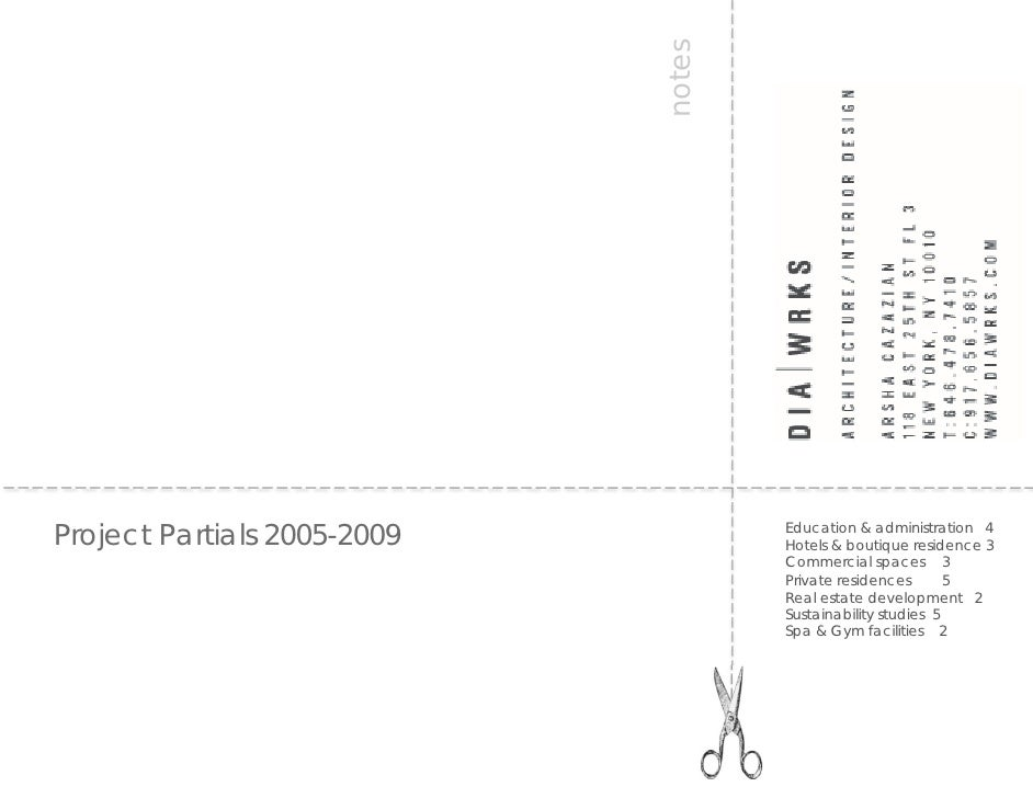 notes Project Partials 2005-2009           Education & administration 4                                      Hotels & bout...