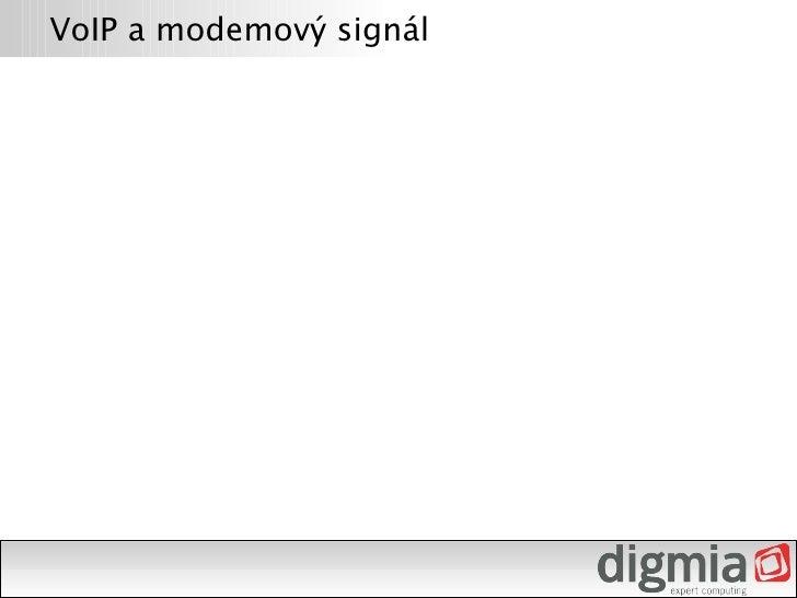 VoIP a modemový signál