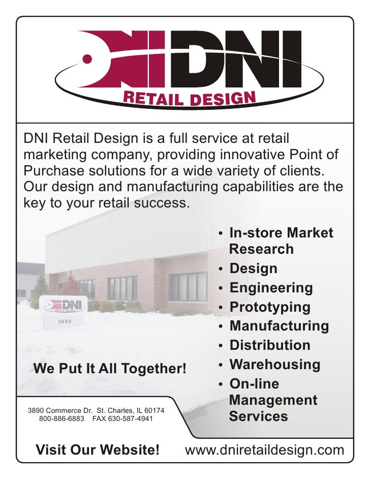 RETAIL DESIGN  DNI Retail Design is a full service at retail marketing company, providing innovative Point of Purchase sol...