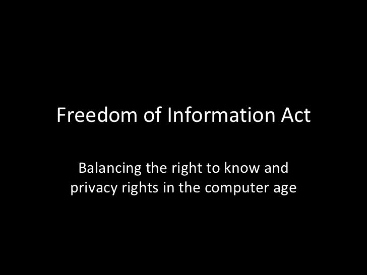 freedom of information bill a solution The freedom of information act (5 usc § 552) (foia) is one of the most important legal tools citizens and reporters have for furthering government transparency in the united states and yet, history shows that empowering the citizenry as a check on the government has worried many members of the.