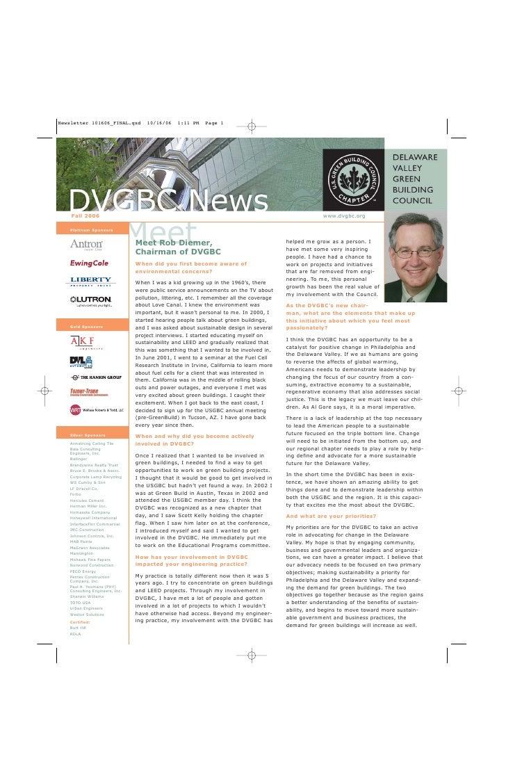 Fall 2006                                                                                          www.dvgbc.org          ...