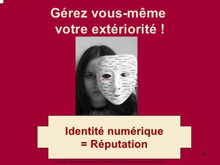 Gérez vous-même  votre extériorité ! Copyright. Tous droits réservés à FB-Associés. Net peut être reproduit sans accord. I...