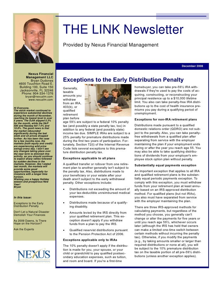 THE LINK Newsletter                                     Provided by Nexus Financial Management                            ...