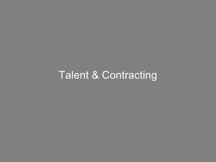 Talent & Contracting