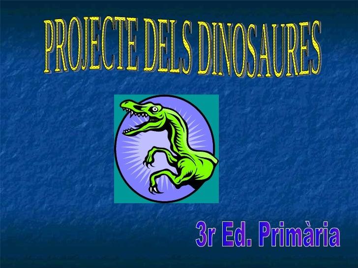 PROJECTE DELS DINOSAURES 3r Ed. Primària