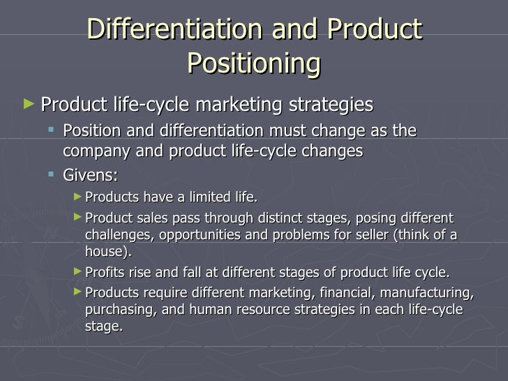 disadvantages of product differentiation and advertising Positioning (marketing)  emerged from the burgeoning advertising industry in the period  and the basis of the product's differentiation from any.