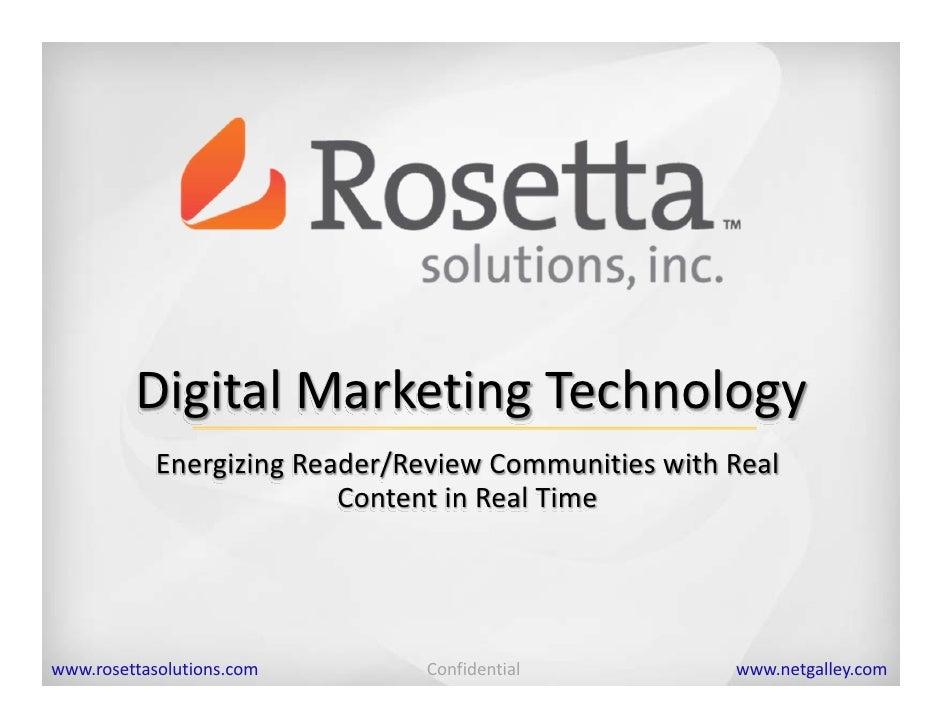 DigitalMarketingTechnology             EnergizingReader/ReviewCommunitieswithReal                           Content...