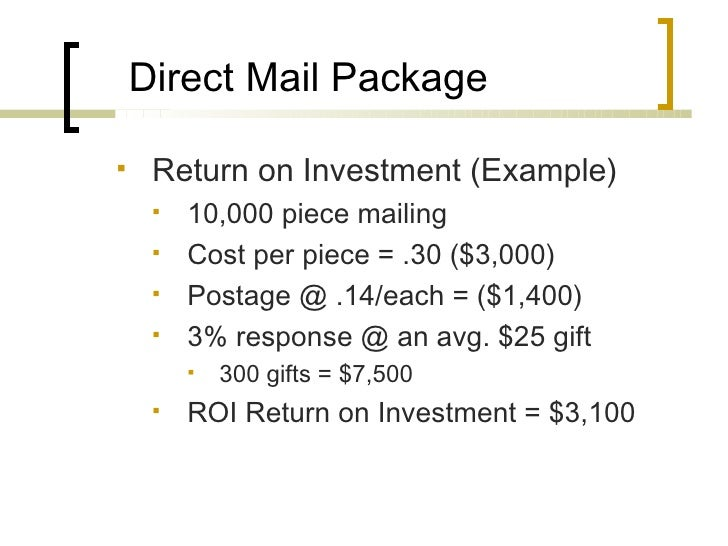 mailing example