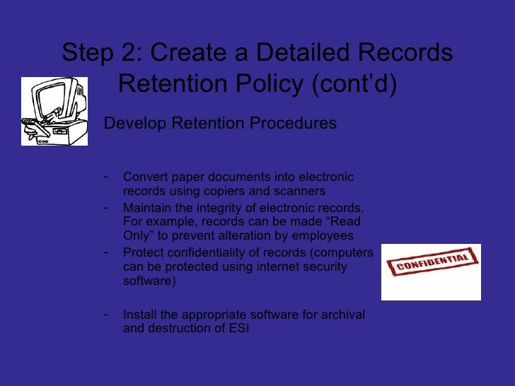 Document Retention And Destruction Power Point – Document Retention Policy