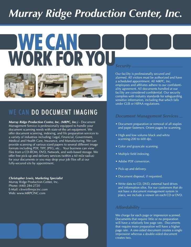 Document Scanning Flyer