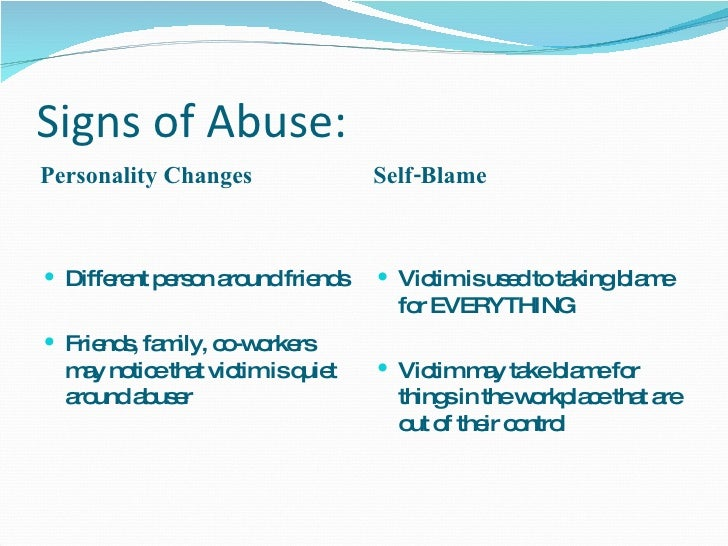 Warning signs of an abusive personality