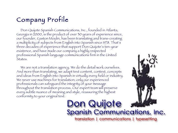 Don Quijote Advertising, Inc