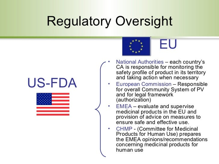 Drug Safety Regulations In The Us And Eu