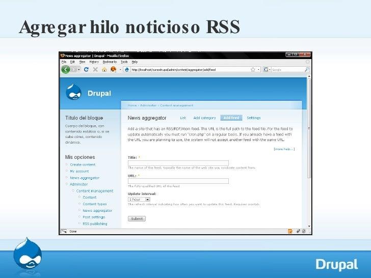 Agregar hilo noticioso RSS