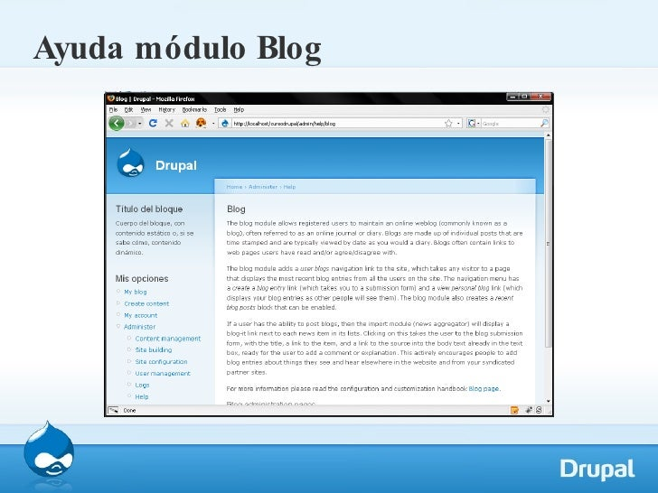 Ayuda módulo Blog