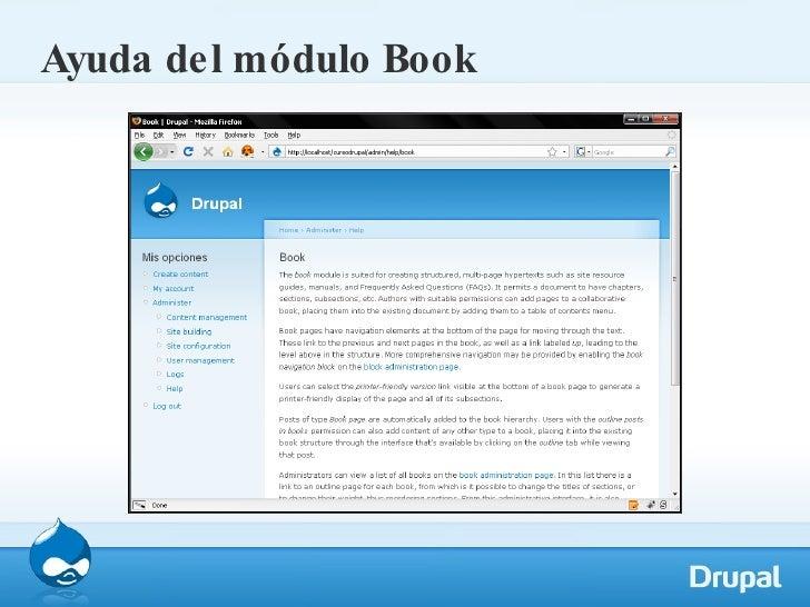 Ayuda del módulo Book