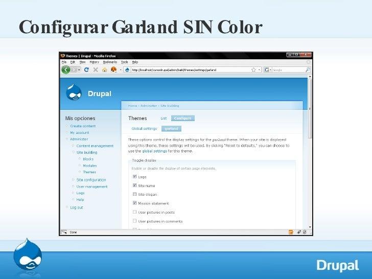 Configurar Garland SIN Color