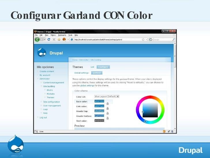 Configurar Garland CON Color