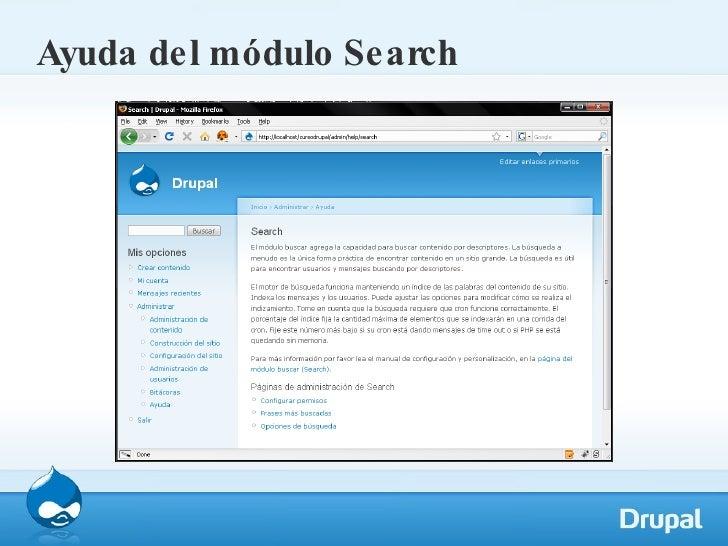 Ayuda del módulo Search