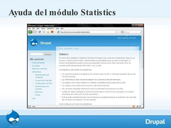 Ayuda del módulo Statistics