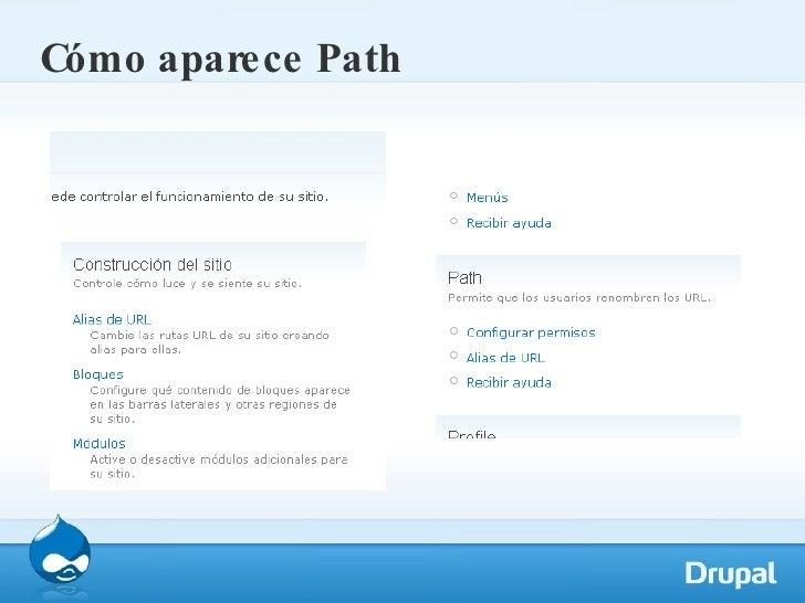 Cómo aparece Path